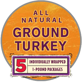 Ground Turkey 5/1 lb. Chub Family Pack
