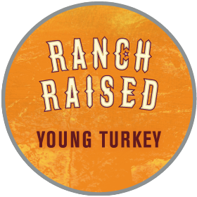 Ranch raised young turkey