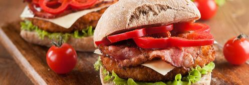 Turkey Burger with Bacon